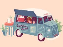 100 Coffee Truck Witchs Brew By Gabby DaRienzo Dribbble Dribbble