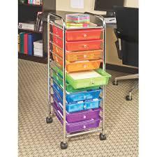 Seville Classics 10 Drawer Organizer Cart Translucent Multi Color
