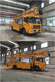 100 Truck Mounted Boom Lift Ce Certificated Hydraulic Ing 8m To 18m 4X2 Bucket