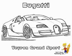 Bugatti Coloring Pages Super Fast Cars Free Race Car To Print