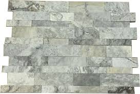 Scabos Travertine Natural Stone Wall Tile by Silver Travertine 7x20 Ledger Panels Honed Wall Tiles