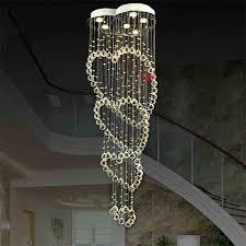 moderne led kristall pendelleuchten leuchten für esszimmer magische kugel loft treppen kristall licht meteorschauer regen pendelleuchte