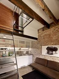100 Brick Loft Apartments Studio Kitchen Style Square Foot Micro Apartment