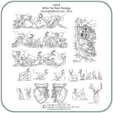 dafer complete whitetail deer wood carving patterns