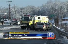 100 Fire Truck Accident Nine People Including Seven Fighters Hurt In Doylestown Pa