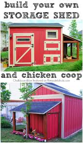 Remodelaholic | Cute DIY Chicken Coop With Attached Storage Shed Good Ideas Chicken Coop With Nesting Box And Roosting Bar Features Summerhawk Ranch Extra Large Victorian Teak Barn Abc Acres Chickens Old Red 37 With Medium Coops That Rooftop Roof Top Planter Precision Pet Products Dog House Chewycom Scolhouse Saloon 22 Diy You Need In Your Backyard Quality Built Nesting Boxes Doors Ramps Best Housing Review Position