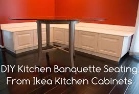 DIY Kitchen Banquette Bench Using Ikea Cabinets (Ikea Hacks) Kitchen Corner Style Kitchen Nook Table Innovative Kitchens With Ding Banquette Seating Surripuinet Fniture Built In Ideas Of Bench Diy Plans Beautiful Modern L Shaped 52 Storage For Design Dimeions Metric Lawrahetcom Perfect Open In White With Diner Style Curved Banquette Bench