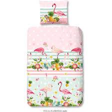 morning parure de couette coton flamingo 1 housse de