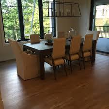 Dining Room With Dark Hardwood Floors