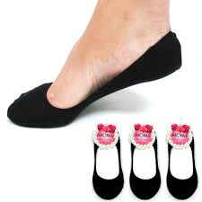 3 pairs foot covers womens footies dress flat shoes soft socks