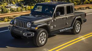 Jeep Wrangler Pickup Rendering