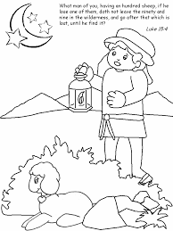 Innovation Idea Lost Sheep Coloring Page Good Shepherd And Parable Pages Colouring