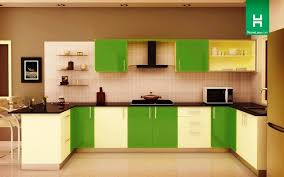 colorful kitchen design with green accent white and light green