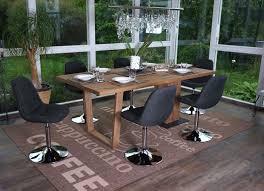 6x esszimmerstuhl hwc a60 stuhl drehstuhl chrom textil dunkelgrau
