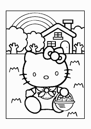 Coloring Picture Hello Kitty Cat Numbers Pictures For Kids