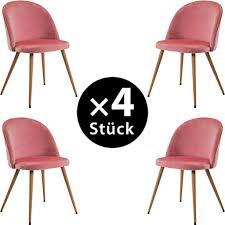 merax esszimmerstühle 4 x esszimmerstuhl 4er set aus stoff samt bürostuhl polsterstuhl küche stühle gestell aus metall wohnzimmer stühle mit