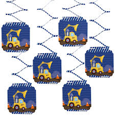 Construction Truck - Birthday Party Hanging Decorations - 6 Ct ... Birthday Cstruction Themed Party With Free Printables  Noted Trucks Pictures Amazon Com 12340 Watsons Cstruction Truck Birthday Party Holy City Chic Truck Dessert Cake Plates Napkins And Cups Home Ideas Invitations Monster Fire Envelopes First Themed Invites Items Similar To Augustines 2nd M Loves Stay At Homeista Boys Name Age Poster Crane