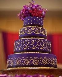 Wedding Cake Purple Gold