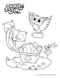 Animal Jam Coloring Pages Celebrate Spring And The Environment With This Free Download