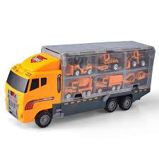 100 Truck Carrier JoyABit 11 In 1 Construction Vehicle Car Toy Set Play