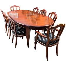 Antique Edwardian Dining Table Eight Chairs Circa 1900 At And For Sale