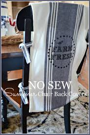 NO SEW CHAIR BACK COVERS Great Embellishment For Any Chair Stonegableblog