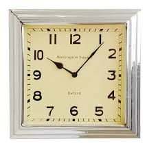 3D Wooden Mosaic Frame Wall Clock With 4 Square