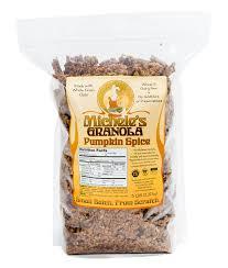 Pumpkin Flaxseed Granola Nutrition Info by Pumpkin Spice U2013 Michele U0027s Granola