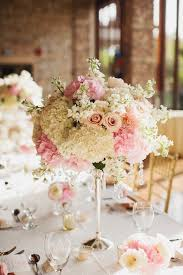 Romantic Light Pink And White Floral Centerpiece Wedding Centre Piece