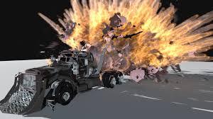 100 Truck Explosion ArtStation ALEX OLIINYK