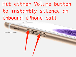 Silence iPhone Ringer by Hitting Volume Buttons