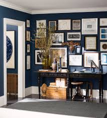 Entry Featuring Paint Color Naval (SW 6244) From The Pottery Barn ... Gorgeous 20 Pottery Barn Gallery Wall Decorating Design Of How To Haymarket Designs Put A Cork In It Diy Shadow Box Table Crafty Inspiration With Shelves Innovative Decoration Coffee Boxe Beach House Cues Molucca Media Console Blue Distressed Paint End Ikea Uk Suzannawintercom Best Shadow Box Coffee Table Design Ideas