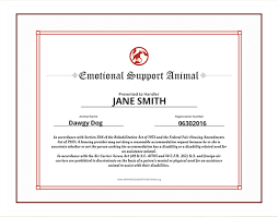Emotional Support Animal ID