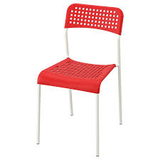 ikea adde stuhl rot weiß