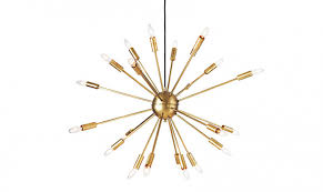 Above The Satellite Chandelier Is Inspired By Soviet Satellites And Space Exploration With 24 Antennae Arms Available In Brass Shown