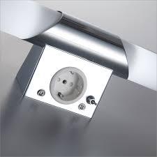 b k licht spiegelleuchte mithra e14 warmweiß led wandle spiegelle badezimmer metall glas e14 bad le mit steckdose