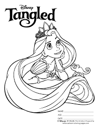 Coloring Pages Of Tangled Black White