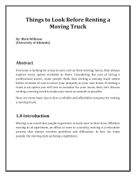 100 Moving Truck Rental Company Things To Look Before Renting A