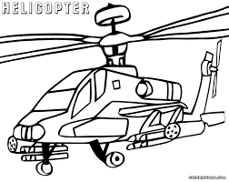 Army Helicopter Coloring Pages With