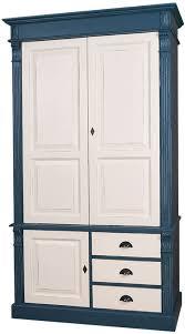 casa padrino landhausstil kleiderschrank antik blau antik cremefarben 120 x 59 x h 210 cm massivholz schlafzimmerschrank mit 3 türen und 3