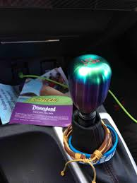 new blox teardrop weighted shift knob in Neochrome 6 speed Honda
