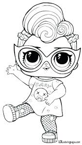 Doll Coloring Pages Paper Dolls Charming Girl Lol Surprise