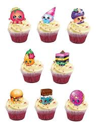 Shopkins Edible Stand Up Wafer Paper Cupcake Toppers