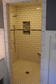 bathroom glamorous quotxquot white subway tile shower walls