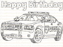 Police Birthday Party Favor Printable Car Coloring Page Sheet Cop Law Enforcement Drawing Printables Supplies Colouring PDF