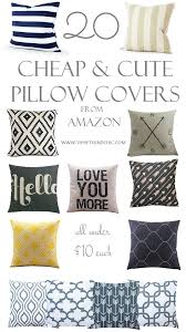 Decor Ideas Cheap Decorative Pillow Covers And Cute From Amazon Gncsizc