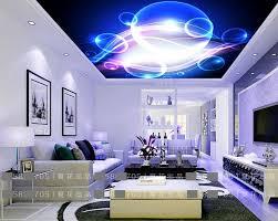 kundenspezifische stereoskopische tapete decke blau cool blasen 3d tapete an der decke tapeten für wohnzimmer 3d decke