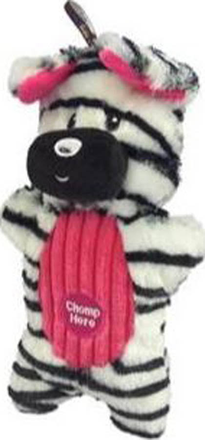 Charming Pet Products Peek-A-Boo Zebra Dog Toy