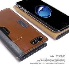Obliq Italian Wallet iPhone 7 Plus 8 Plus Case Black Gray