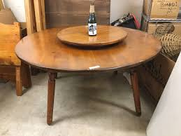 W.R. Dallas Round Table With Lazy Susan   Vogt Auction Quality Cadian Wood Fniture Ding Room Round To Oval Mahogany Table Seats 12 Traditional How Do I Determine The Proper Size For A Buy Kitchen Tables Online At Overstock Our Pin By Big Blue Sky Party Event Rentals Los Angeles On Concrete Nick Scali Mid Century Modern World Interiors Austin Tx Outdoor Joss Main Sets
